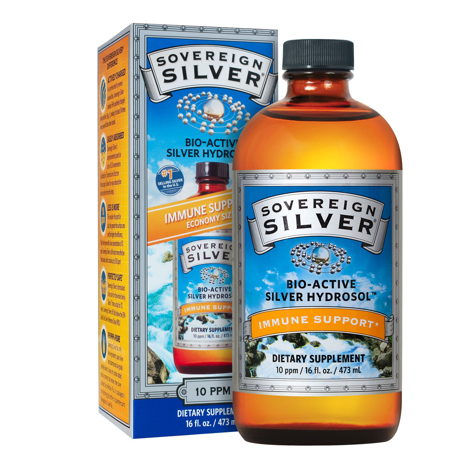 "Sovereign Silver  ""Colloidal Silve r "" has been used since the late 1800's in countless applications, and encompasses a wide variety of silver products. Many contain (claimed or unclaimed) salts, proteins, compounds or stabilizers – all of which affect the safety and efficacy of silver.  Bio-Active Silver Hydroso l  represents the ultimate refinement of the colloidal silver category. It contains 98% positively charged silver, in pharmaceutical-grade purified water. Our unique silver species, with a verified and unmatched particle size, remains in its most active state for use within the body."