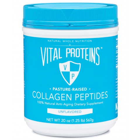 Vital Proteins  Collagen is the protein that our body relies on to ensure the health and vitality of your skin, hair, tendon, cartilage, bones, and joints. Vital Proteins Collagen Peptides are collagen molecules that are small enough to get quickly absorbed and used by your body.