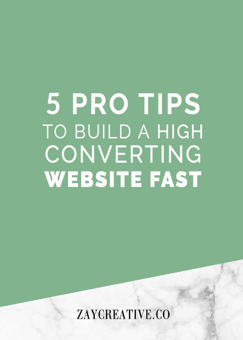 5-pro-tips-to-build-a-website-fast | Zay Creative | Web Design
