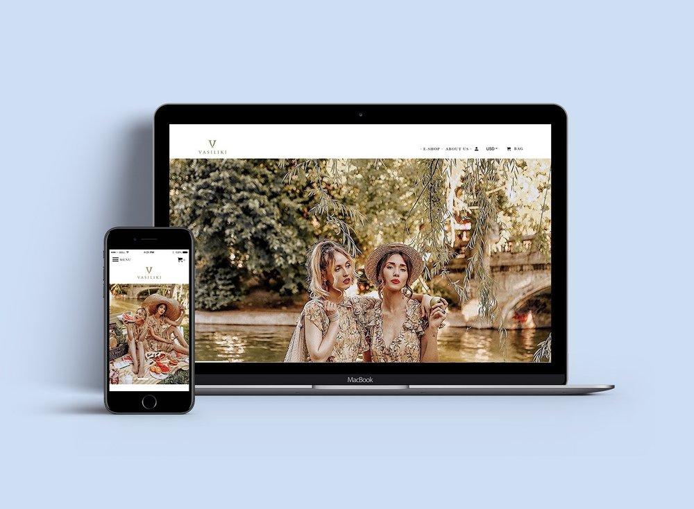 Shopify website design for luxury fashion brand | Zay Creative