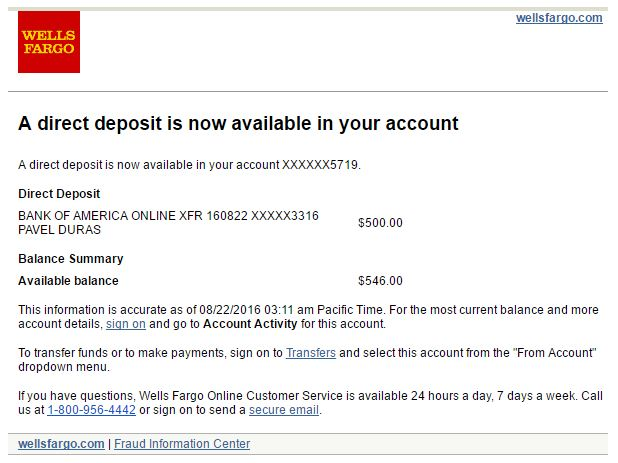 - Direct Pay Notification Example