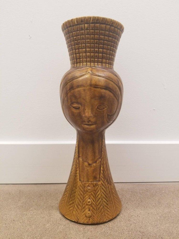 Vintage St Clement French Face Vase Modernique