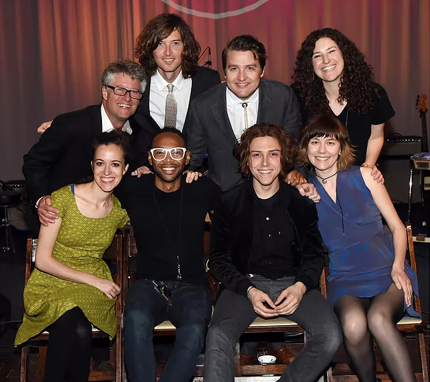 Standing - Jed Hilly Executive Director Americana, Joey Ryan & Kenneth Pattengale of The Milk Carton Kids, Abi Tapia Country Music Hall of Fame and Museum. Sitting - Nominees Brittany Haas, Jerry Pentecost, Daniel Donato and Molly Tuttle attend 2018 Americana Honors & Awards Nominations Ceremony on May 15, 2018 in Nashville, Tennessee.Photo:Rick Diamond/Getty Images North America