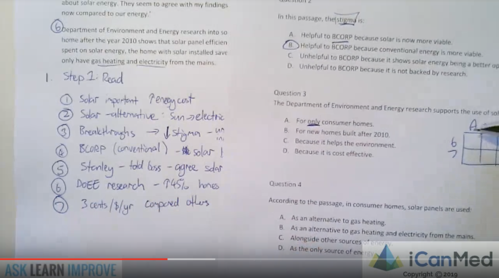 Verbal Reasoning - Question 3