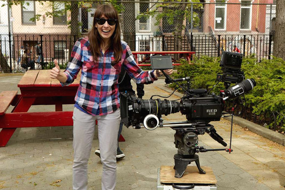 emily with RED camera