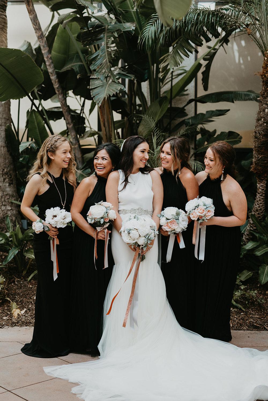 Fashion Island Wedding in California - Bridal Party