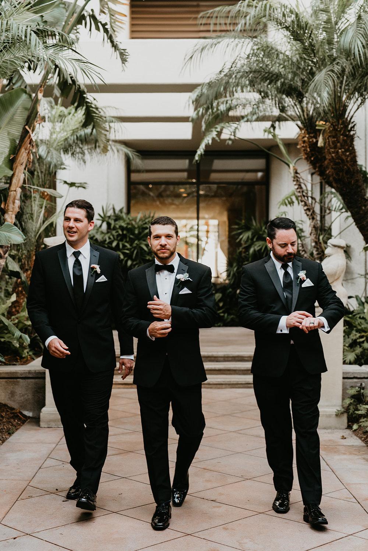 Fashion Island Wedding in California - Groom Party