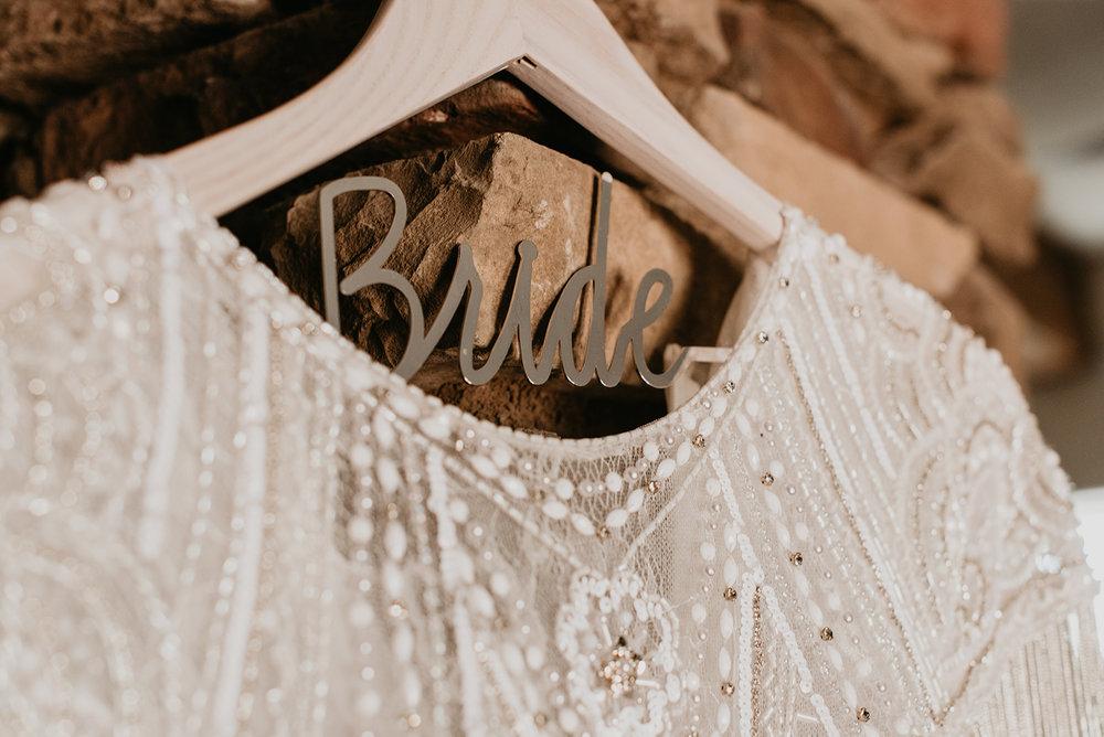 Backyard Las Vegas Wedding - Bride Hanger