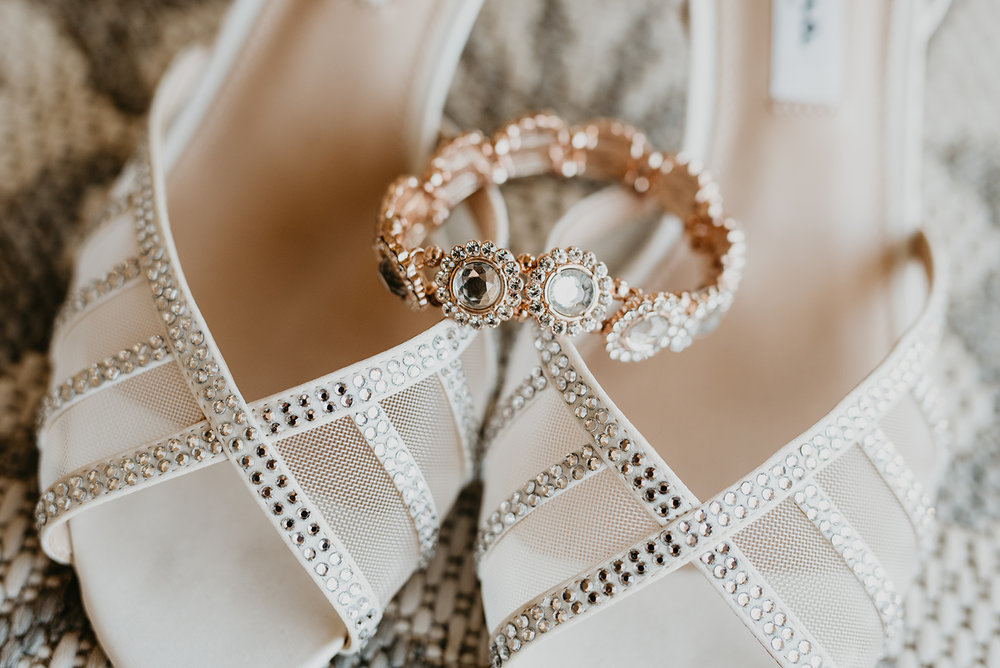 Backyard Las Vegas Wedding - Bride Shoes