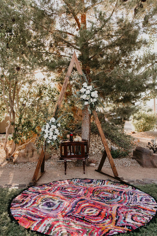 Backyard Las Vegas Wedding - Alter