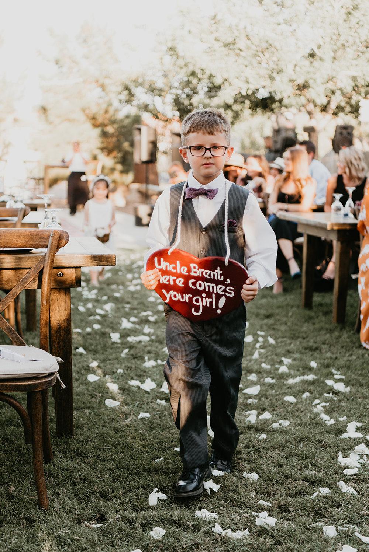 "Backyard Las Vegas Wedding - ""Here Comes The Bride"""