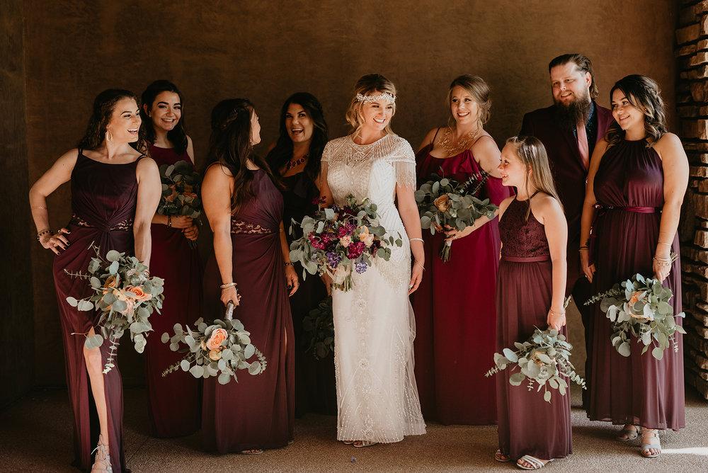 Backyard Las Vegas Wedding - Bridal Party
