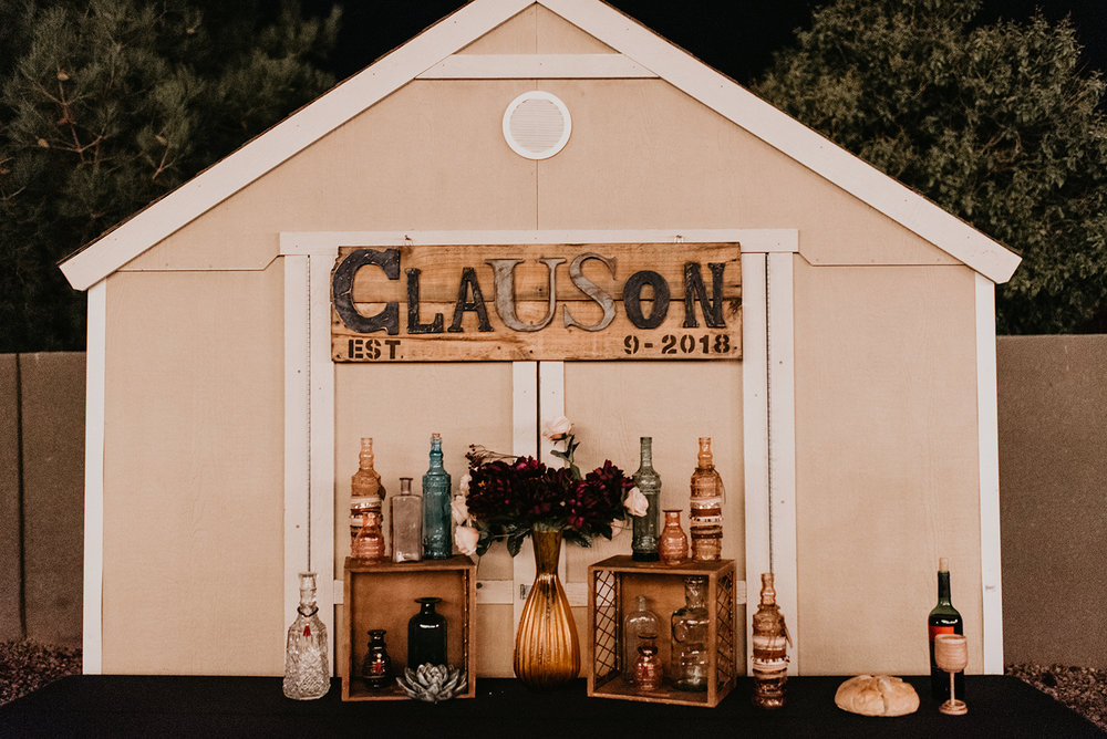 Backyard Las Vegas Wedding - Bar