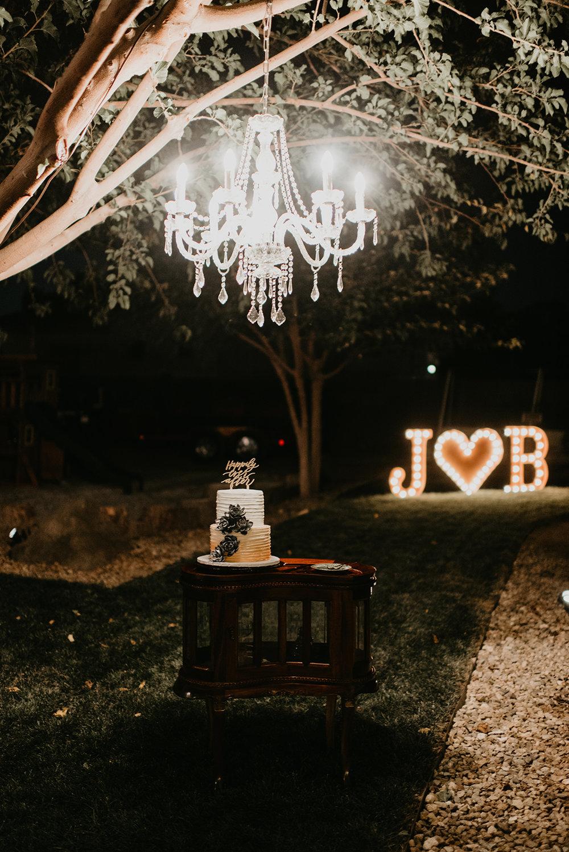 Backyard Las Vegas Wedding - Cake