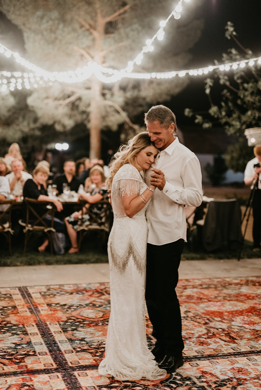 Backyard Las Vegas Wedding - Father Daughter Dance