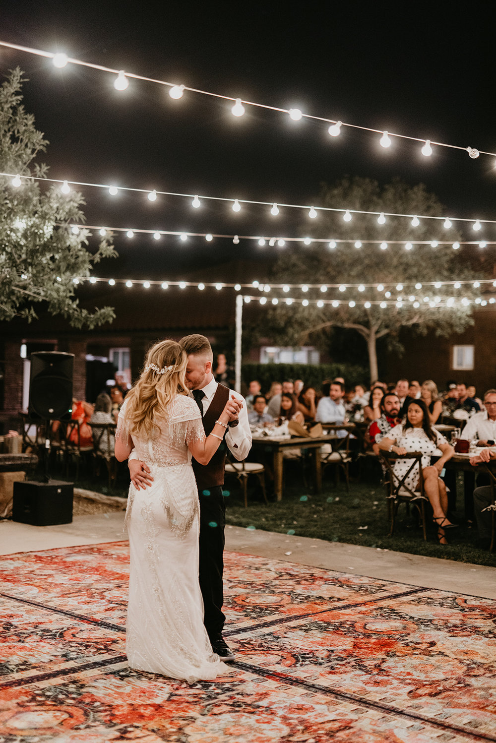 Backyard Las Vegas Wedding - Bride and Groom Dancing