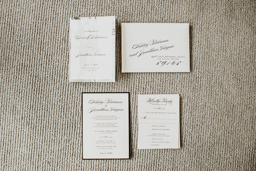 Fragoso Wedding in Las Vegas  NV - Wedding Invitations