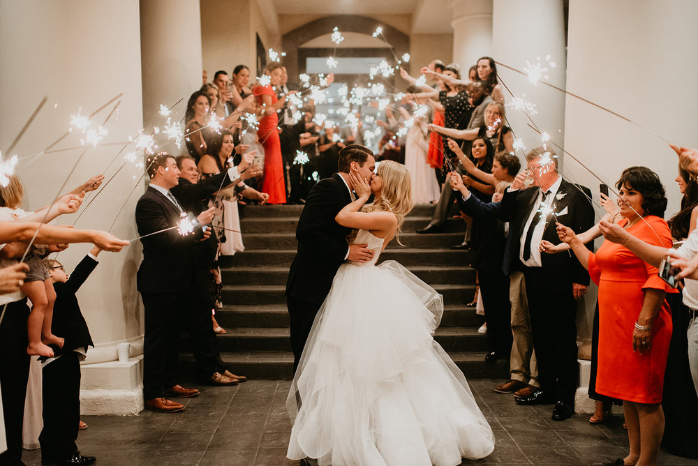 Fragoso Wedding in Las Vegas, NV - Sparkler Farewell