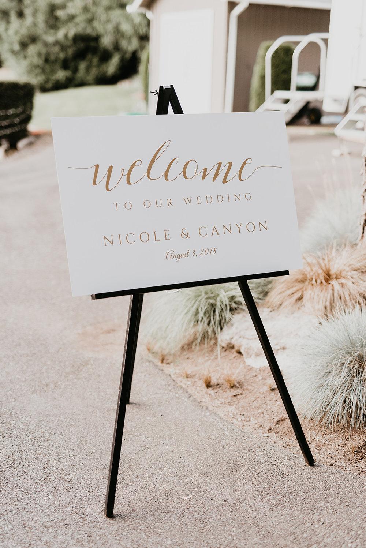 Thompson Wedding in Seattle, Washington - Bride sign