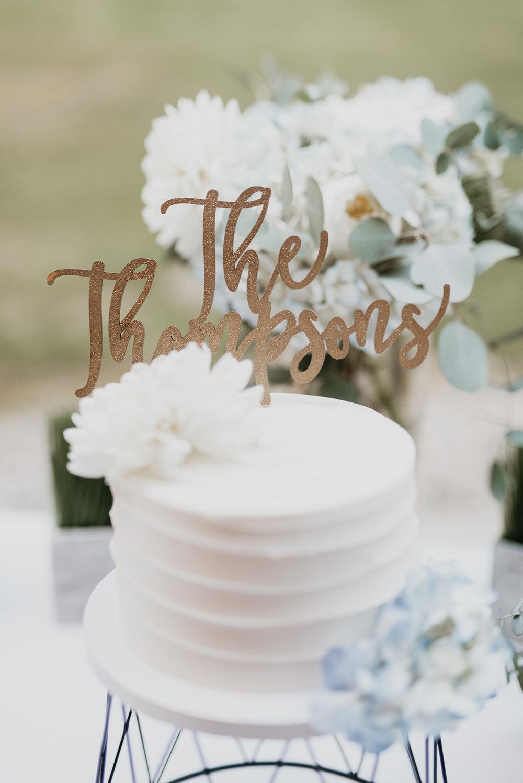 Thompson Wedding in Seattle, Washington - Cake Topper
