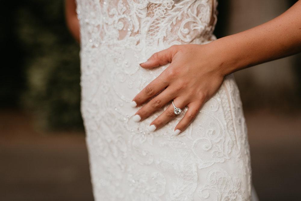 Thompson Wedding in Seattle, Washington - Dress details