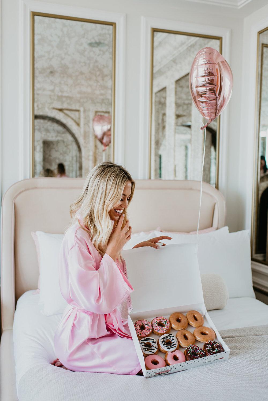 Wilson Gabrielle Branding Shoot at Palms Resort - Valentines Day Donuts
