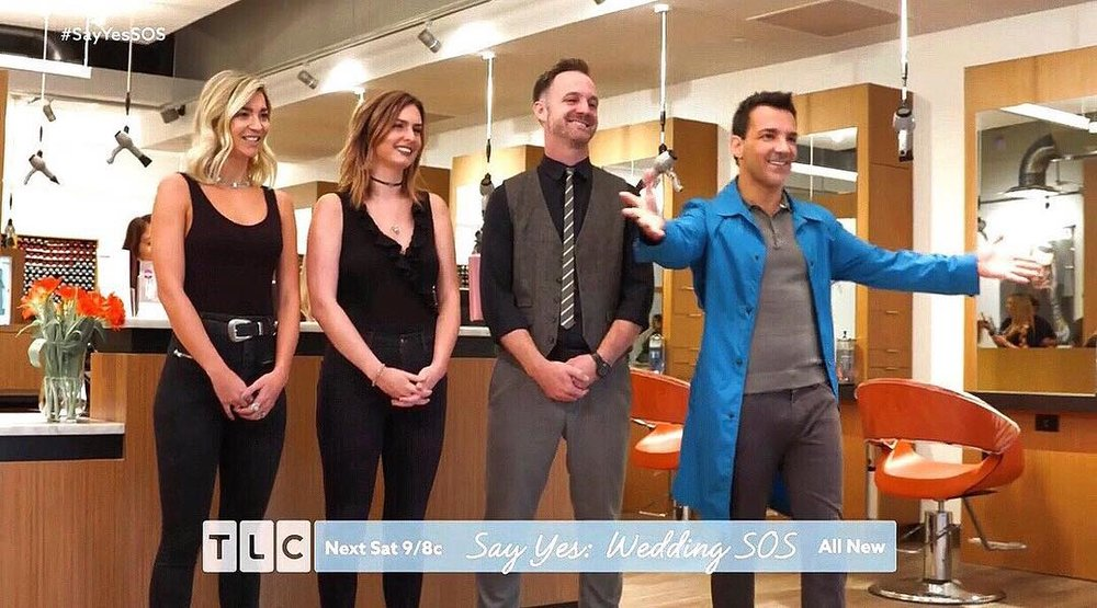 TLC Say Yes Wedding SOS - Moxie Blue Salon was on TLC's Wedding SOS with @georgekotsi 🍾 Some of the Moxie Team filmed with TLC in our new Old City location when we first opened in the early fall. The episode aired last night .