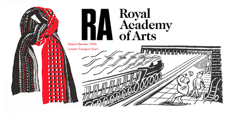 Royal Academy of the Arts - The Royal Academy of Arts commissioned us to design a special scarf to go with their Edward Bawden products. We were inspired by Bawden's posters and ephemera for London Transport from 1924 to 1952. You can buy this scarf at The Royal Academy on line shop.