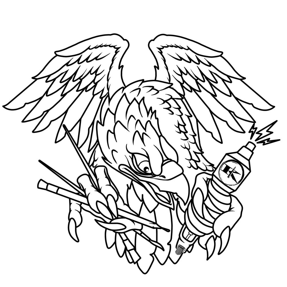 Sonny Batten eagle line drawing.png