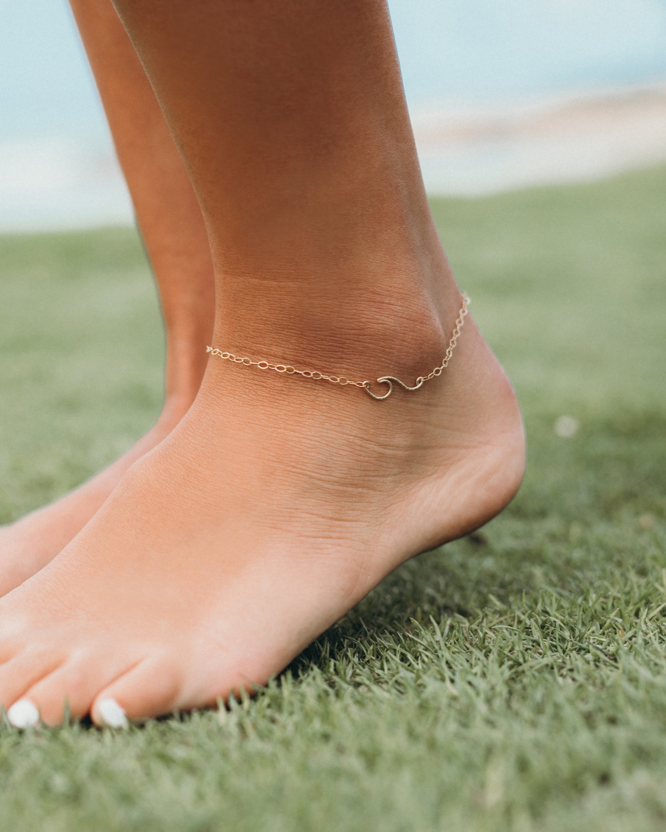 Peahi Wave Chain anklet — [ki-ele]