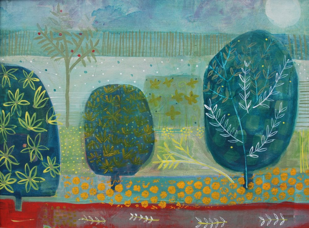 Spanish Garden ii  - acrylic on canvas - 19in x 16in.jpg