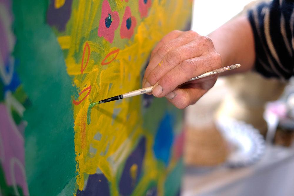 acrylic painting workshops