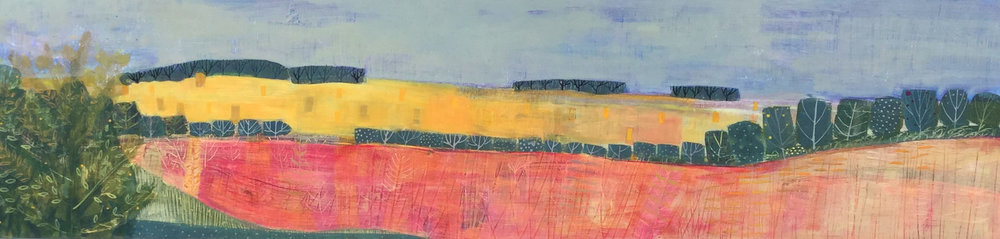 Harvest in The Yorkshire Wolds acrylic on board 2ftx4ft.jpg