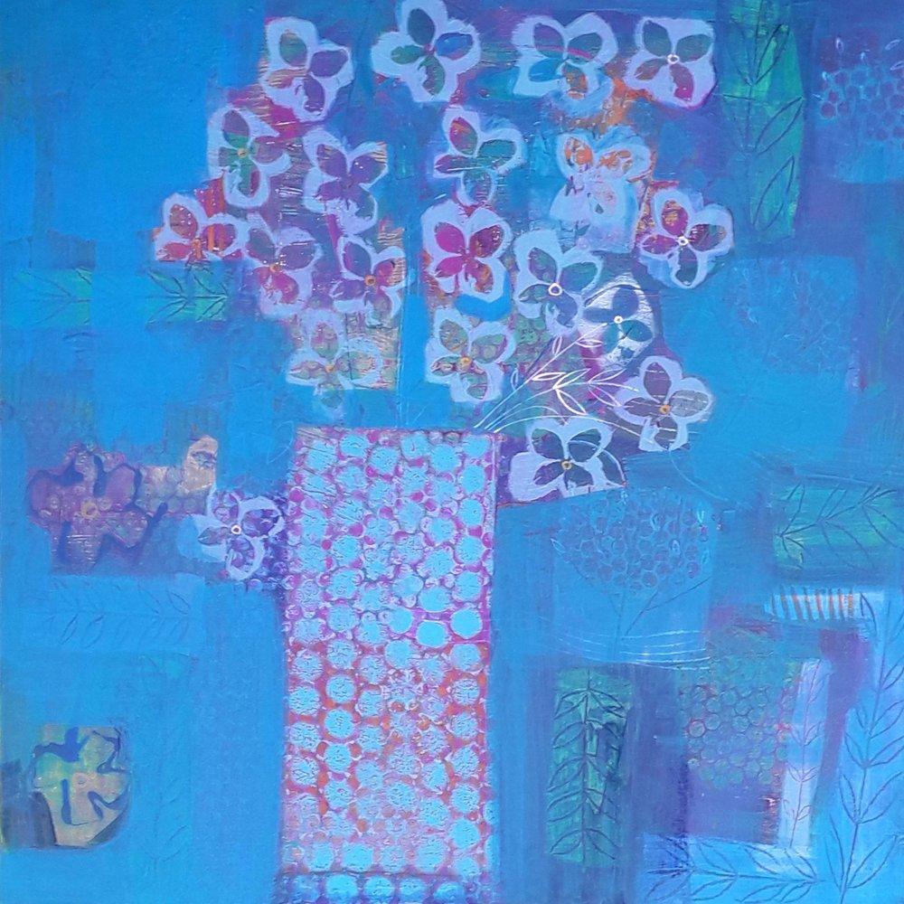 Blue Haze  - Mixed media on birch ply - 2ft x 2ft.jpg
