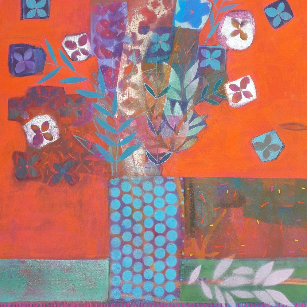 Scarlett O'Hara  - Mixed media on birch ply - 2ft x 2ft.jpg