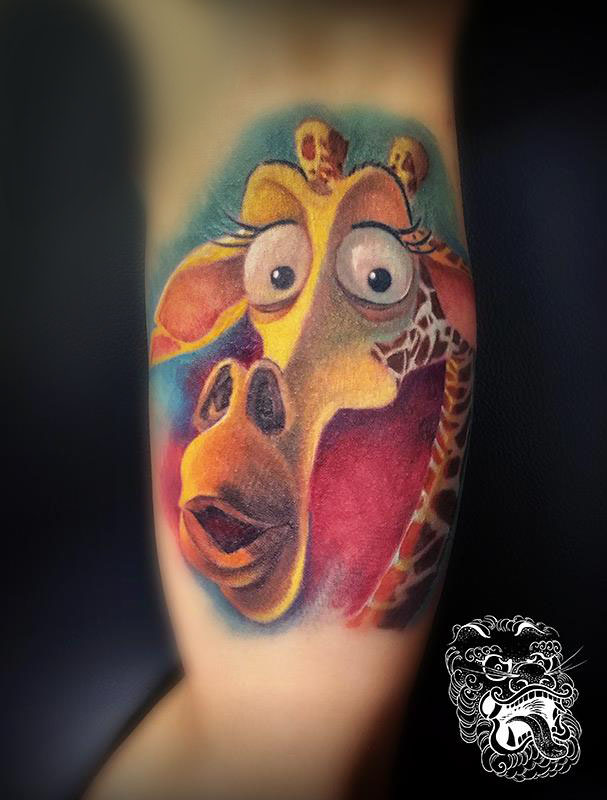 Full color tattoo of Melman.
