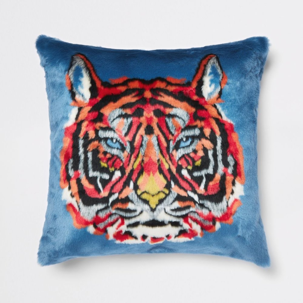 Faux Fur Tiger Cushion, £50