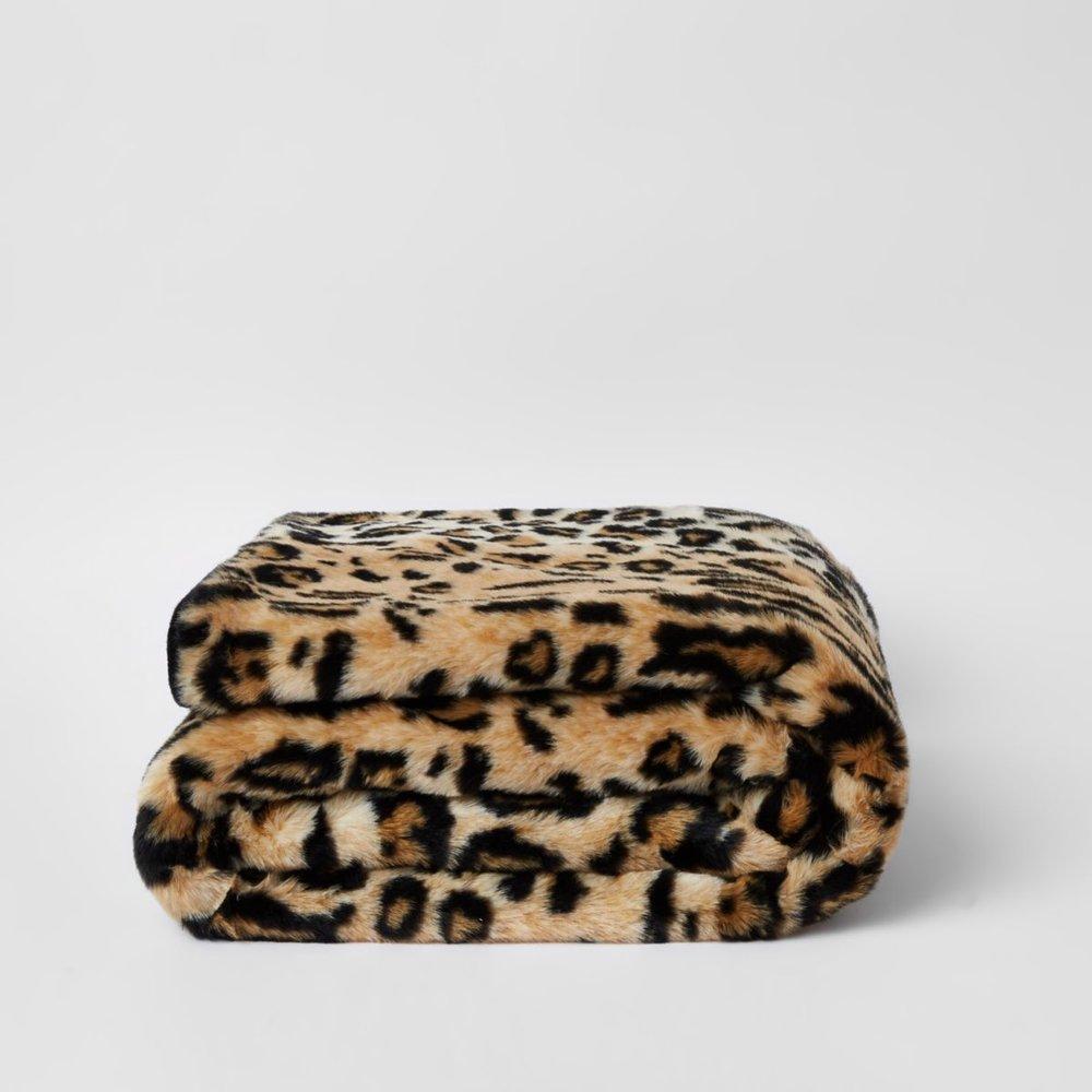 Leopard Faux Fur Throw, £55