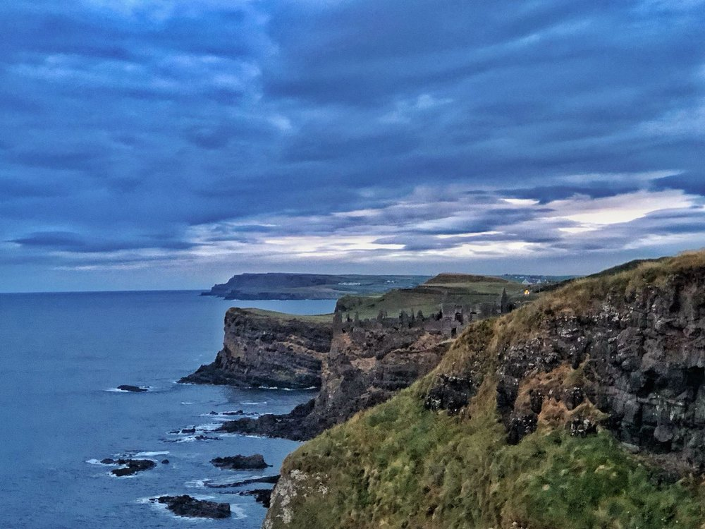 Dunluce Castle, from Magheracross Viewpoint