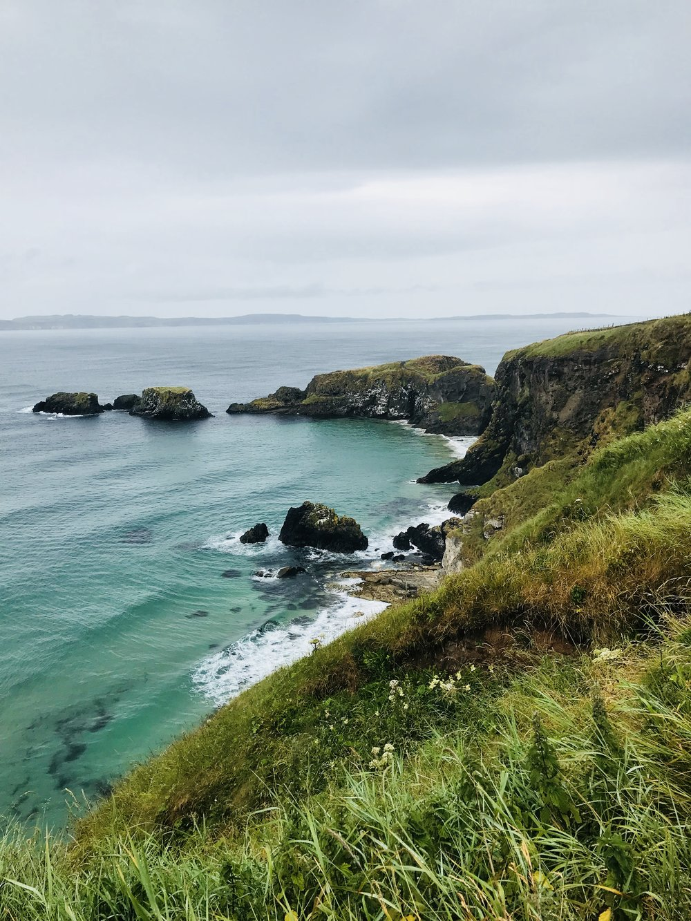 Larrybane Quarry from Carrick-a-Rede