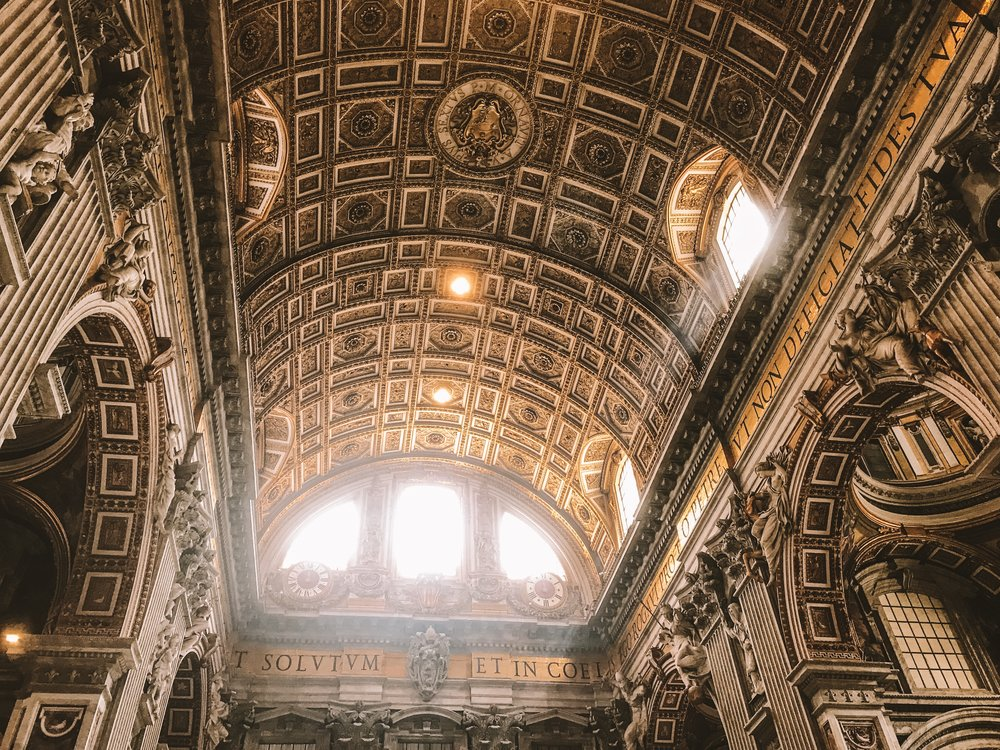 Ceiling of Saint Peter's Basilica