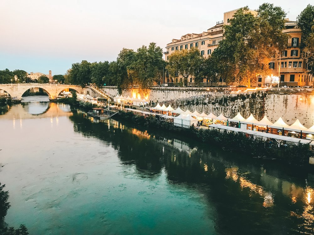 View of the Tiber River
