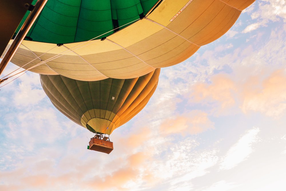 Up, up and away - Hot air balloon flight over Bagan with Oriental Ballooning