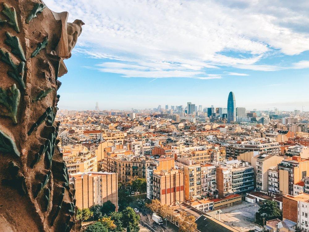 View from Sagrada Familia - Nativity Tower