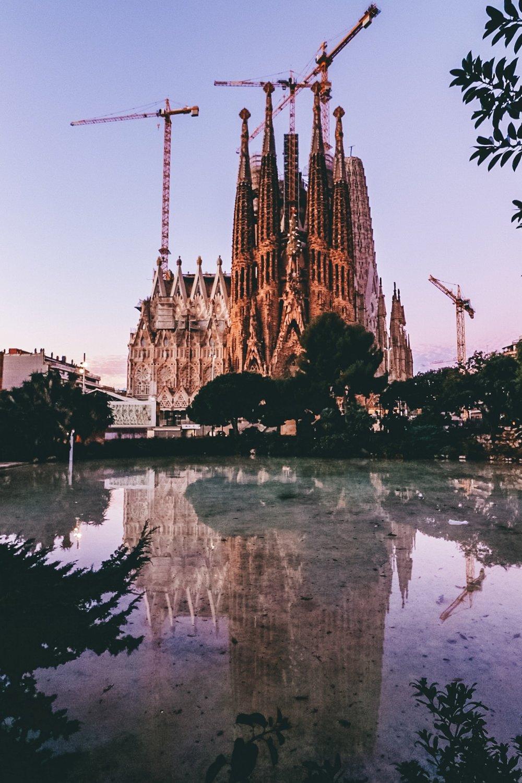Sagrada Familia at Sunrise