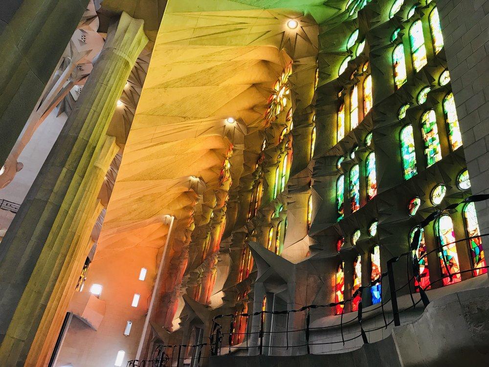 The light in Sagrada Familia - Mrid Narayan