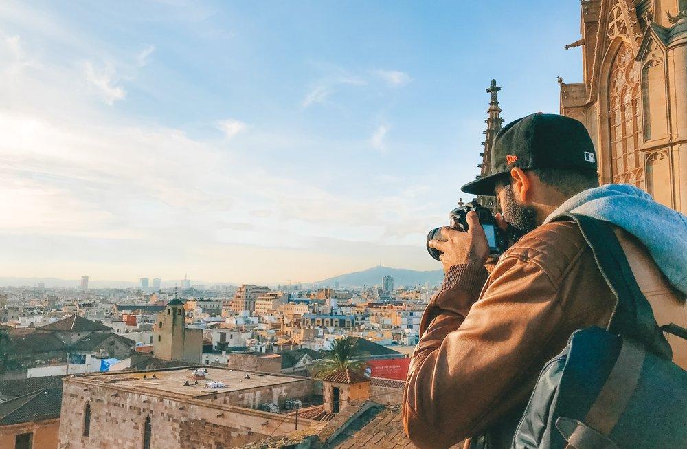 Ash taking a photo of Barcelona.jpg