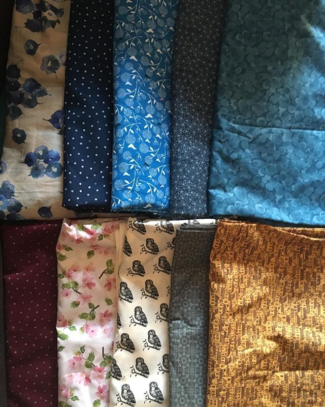 Fabric: my stash from last weekend's sale at @nunoyabcn! What do you think? Let me know if you like any of these for your next outfit!
