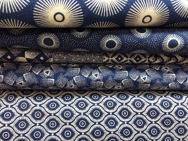 Textile anthropology: loving these shweshwe fabrics from @meerkatshweshwe in South Africa. Using traditional dyeing and printing techniques on indigo, these geometric designs are characteristic of this print. I'll be stocking some soon, so check the website (also coming soon!)