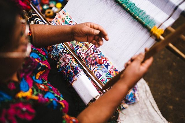 Textile anthropology: traditional waist and foot looming in Guatemala, using Mayan techniques of dyeing and weaving threads. Mercado Global is a local ethical fashion program giving indigenous women control over their own businesses. Check out their incredible work!